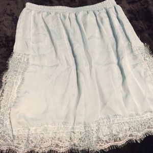 MNG Skirts - NWOT Light Green Mini Skirt